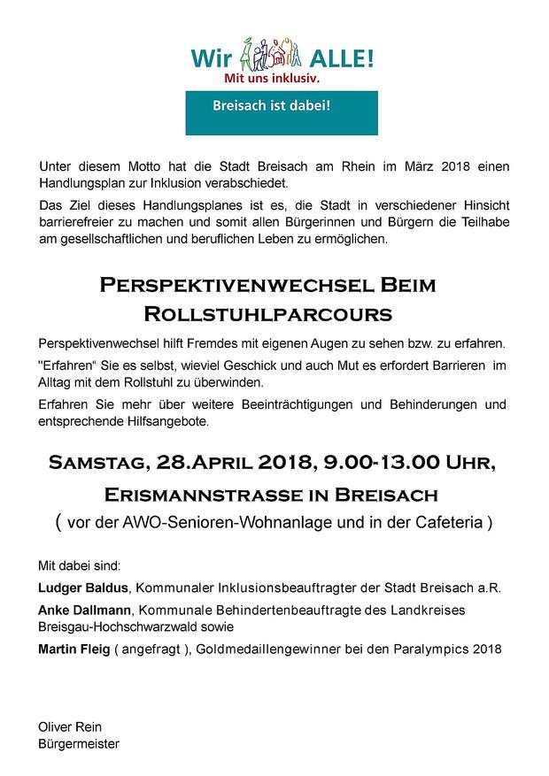 Rollstuhlparcours 28.04.2018